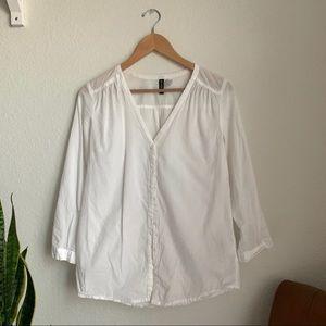 h&m | button-down white shirt